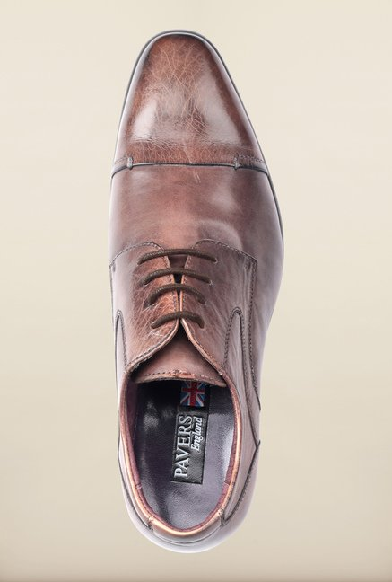 Pavers England Taupe Derby Shoes