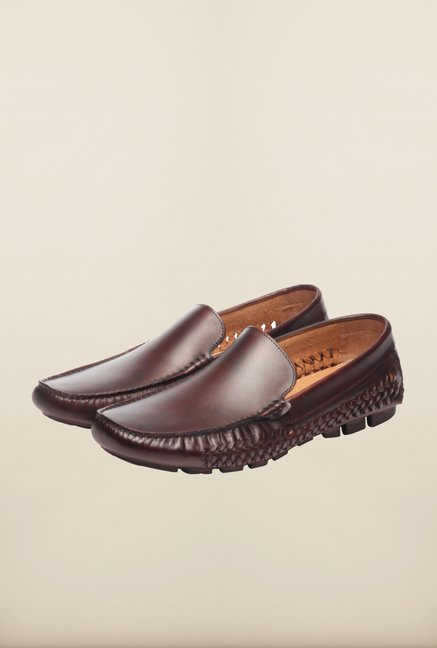 Pavers England Brown Casual Slip-Ons