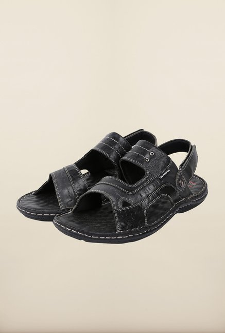 Lee Cooper Black Floater Sandals