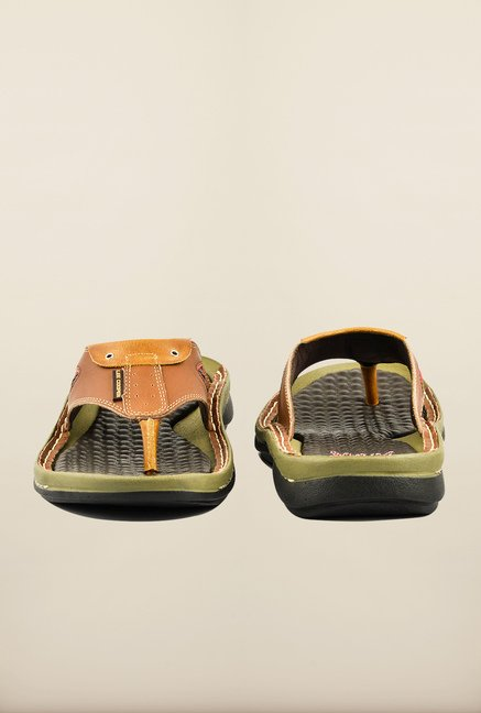 Lee Cooper Tan Ethnic Slippers