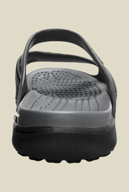 Crocs Meleen Black & Smoke Sandals