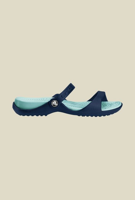 Crocs Cleo Navy & Sea Foam Sandals
