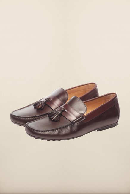 Pavers England Brown Moccasins