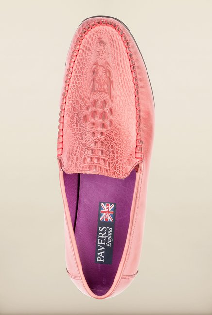 Pavers England Peach Loafers