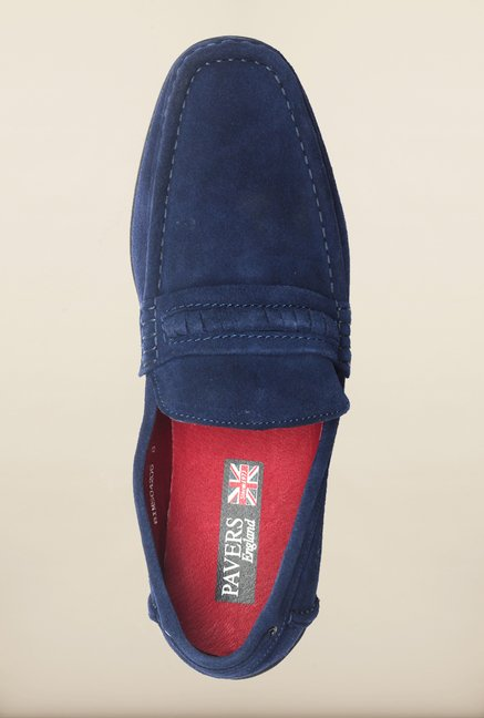 Pavers England Royal Blue Loafers