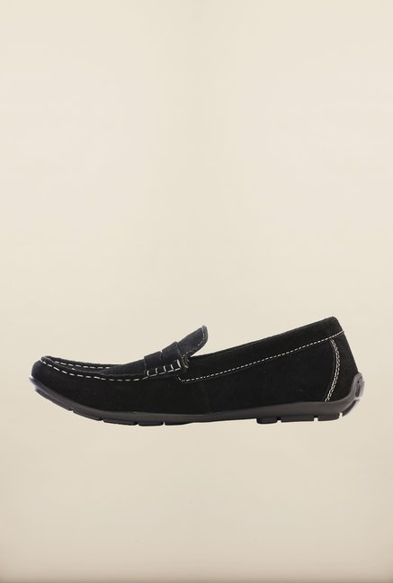 Pavers England Black Loafers
