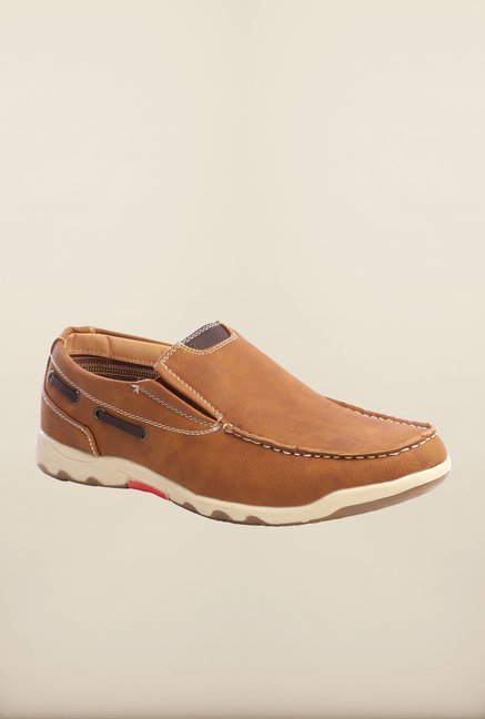 Pavers England Camel Slip-Ons