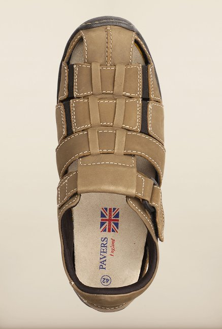 Pavers England Khaki Fisherman Sandals