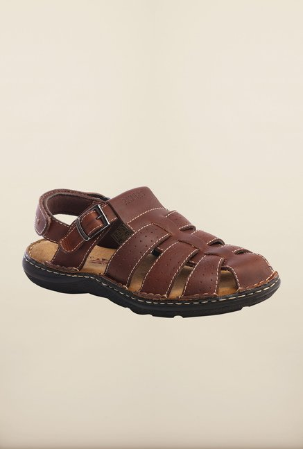 Pavers England Brown Fisherman Sandals