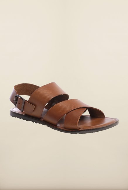 Pavers England Tan Back Strap Sandals