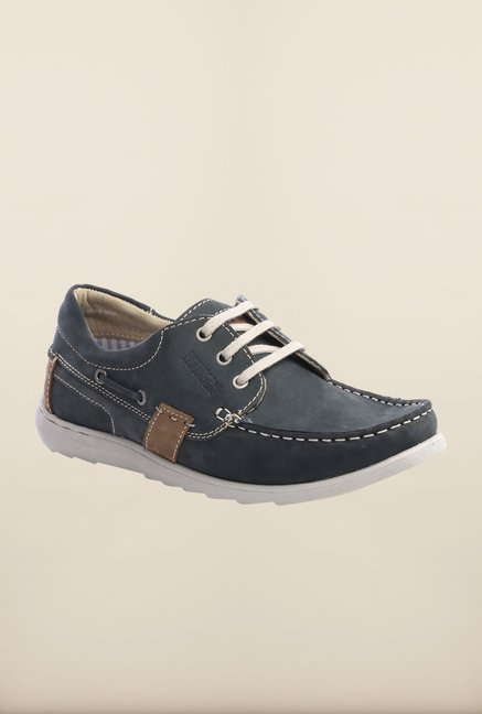 Pavers England Navy Boat Shoes