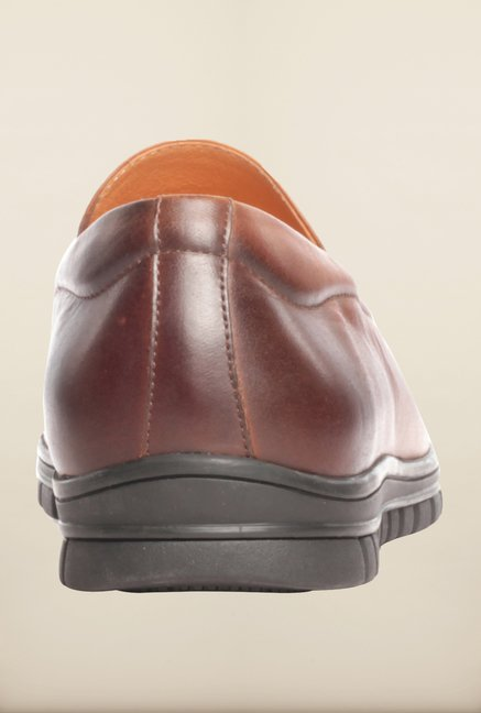 Pavers England Brown Slip-Ons
