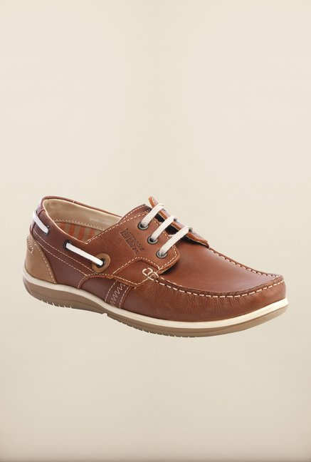 Pavers England Brown Boat Shoes