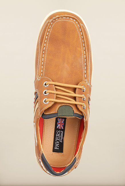 Pavers England Tan Boat Shoes