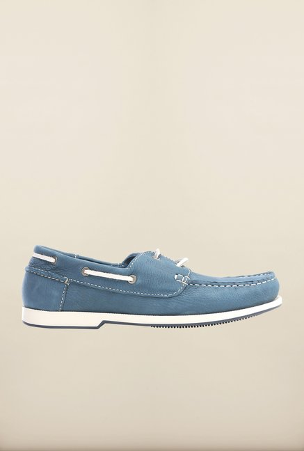Pavers England Blue Boat Shoes