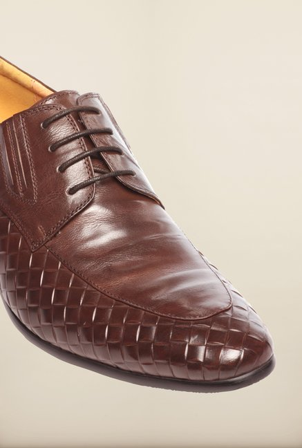 Pavers England Dark Brown Derby Shoes