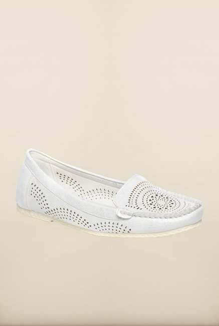 Pavers England White Loafers