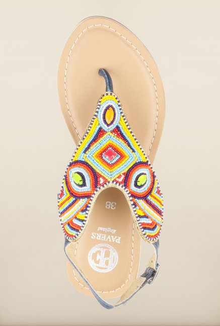 Pavers England Multicolor Ethnic Sandals