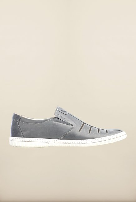 Pavers England Dark Grey Slip-Ons