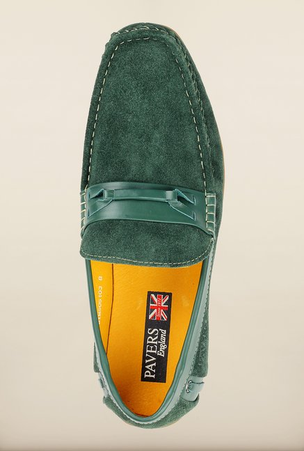 Pavers England Green Loafers