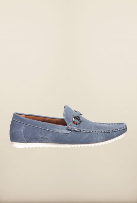 Pavers England Blue Loafers