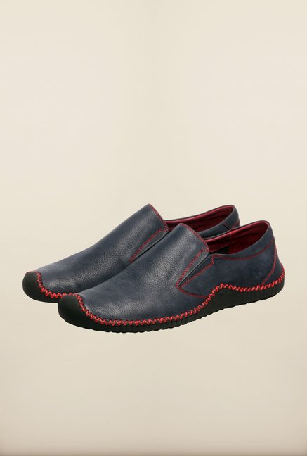 Pavers England Navy & Red Slip-Ons