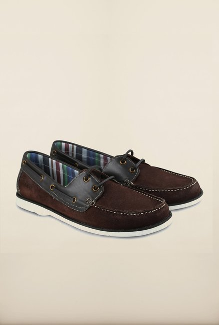 US Polo Cutto Leather Lacce Up Boat Shoes