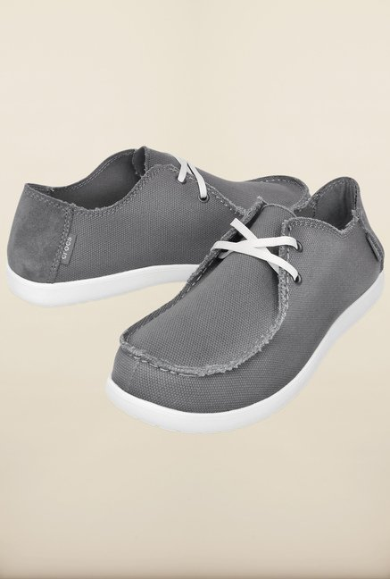 Crocs Santa Cruz 2-Eye Smoke & White Sneakers