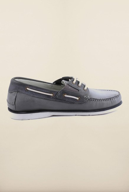 US Polo Assn. Grey Leather Boat Shoes
