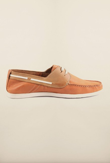 Arrow Tan Leather Boat Shoes