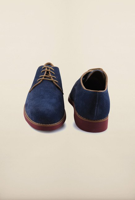 Arrow Navy Suede Leather Lace Up Shoes