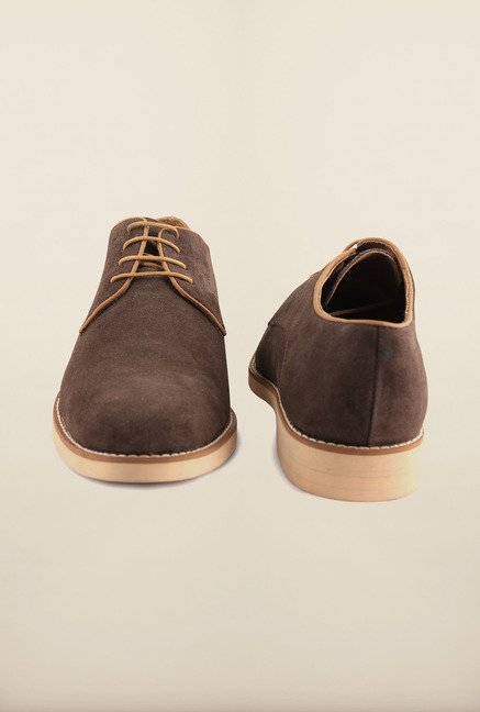 Arrow Brown Suede Leather Lace Up Shoes