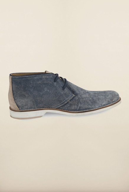 US Polo Assn. Navy Leather Lace Up Chukka Shoes