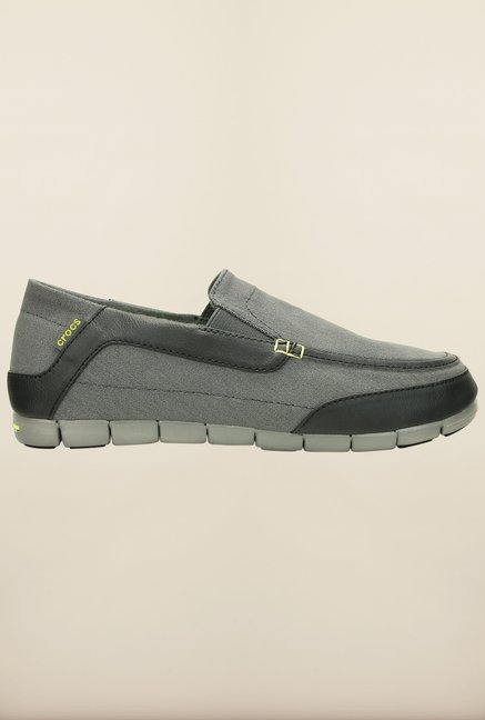 Crocs Torino Graphite & Black Loafers
