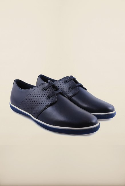 Arrow Navy Leather Sneakers