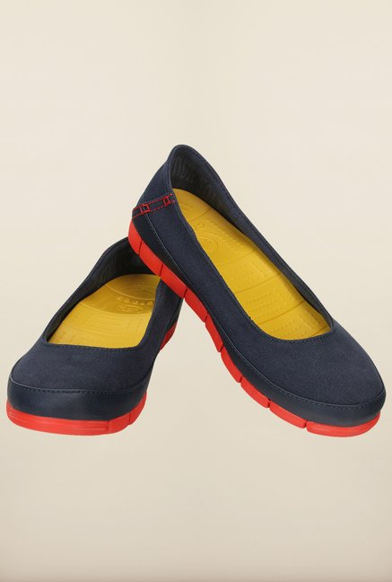 Crocs Stretch Sole Navy and Flame Ballerina