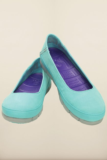 Crocs Stretch Sole Pool and Light Grey Ballerina