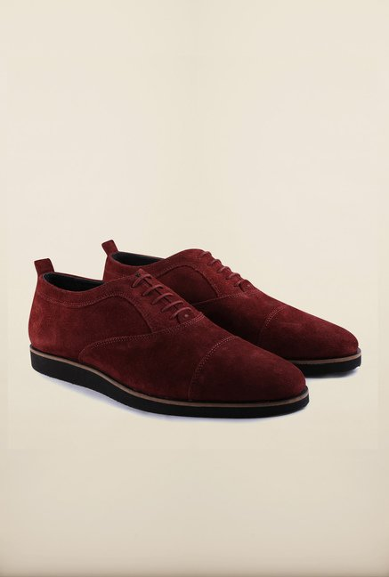 US Polo Assn. Maroon Leather Lace Up Sneakers