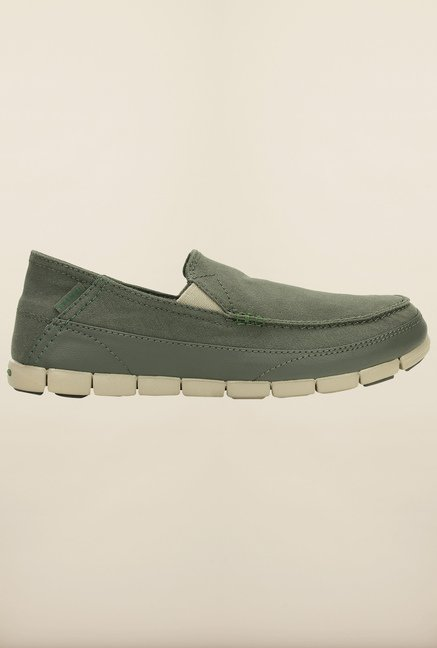 Crocs Stretch Sole Dusty Olive & Cobblestone Loafers