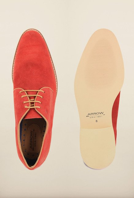 Arrow Rosso Suede Leather Lace Up Shoes