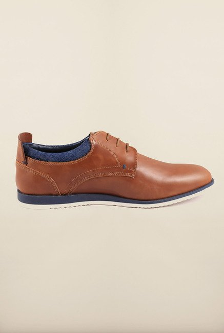Arrow Tan Leather Oxford Shoes