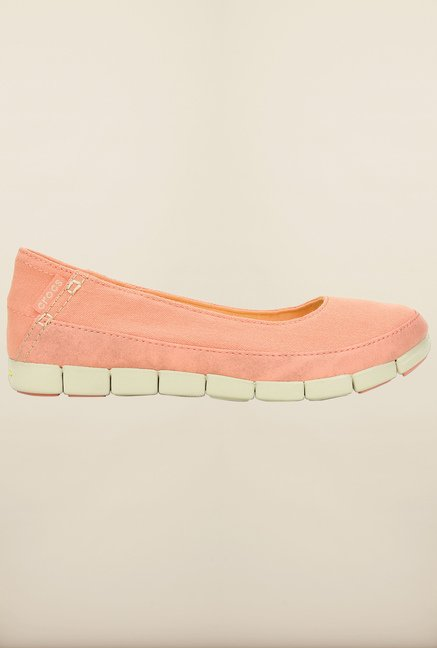 Crocs Stretch Sole Melon and Stucco Ballerina