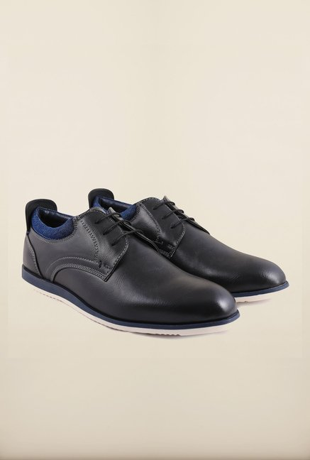 Arrow Black Leather Lace Up Shoes