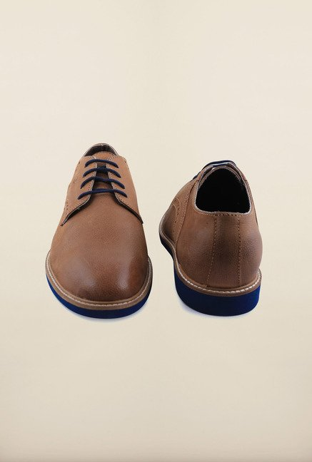 Arrow Tan Leather Oxford Lace Up Shoes