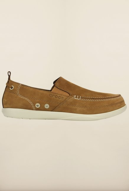Crocs Harborline Hazelnut & Stucco Loafers