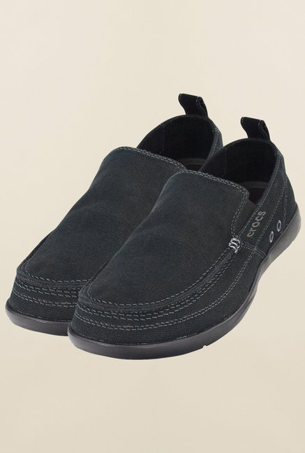 Crocs Walu Black Loafers