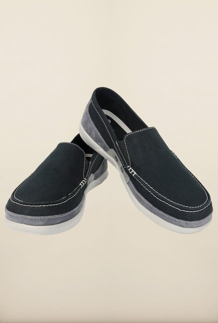 Crocs Walu Black & Charcoal Loafers