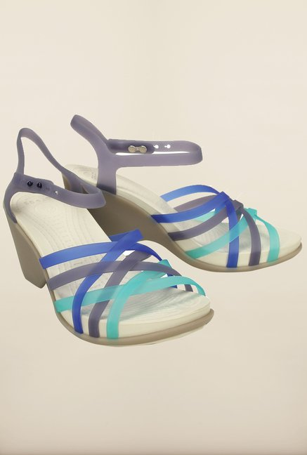 Crocs Nautical Navy & Grey Sandals
