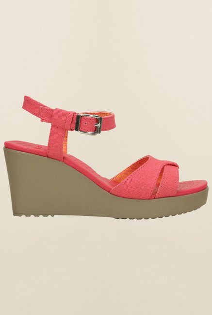 Crocs Leigh Poppy & Mushroom Sandals