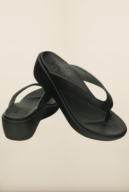 Crocs Capri Black Sandals